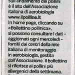 Il polline.it sito della settimana sul Corriere della Sera